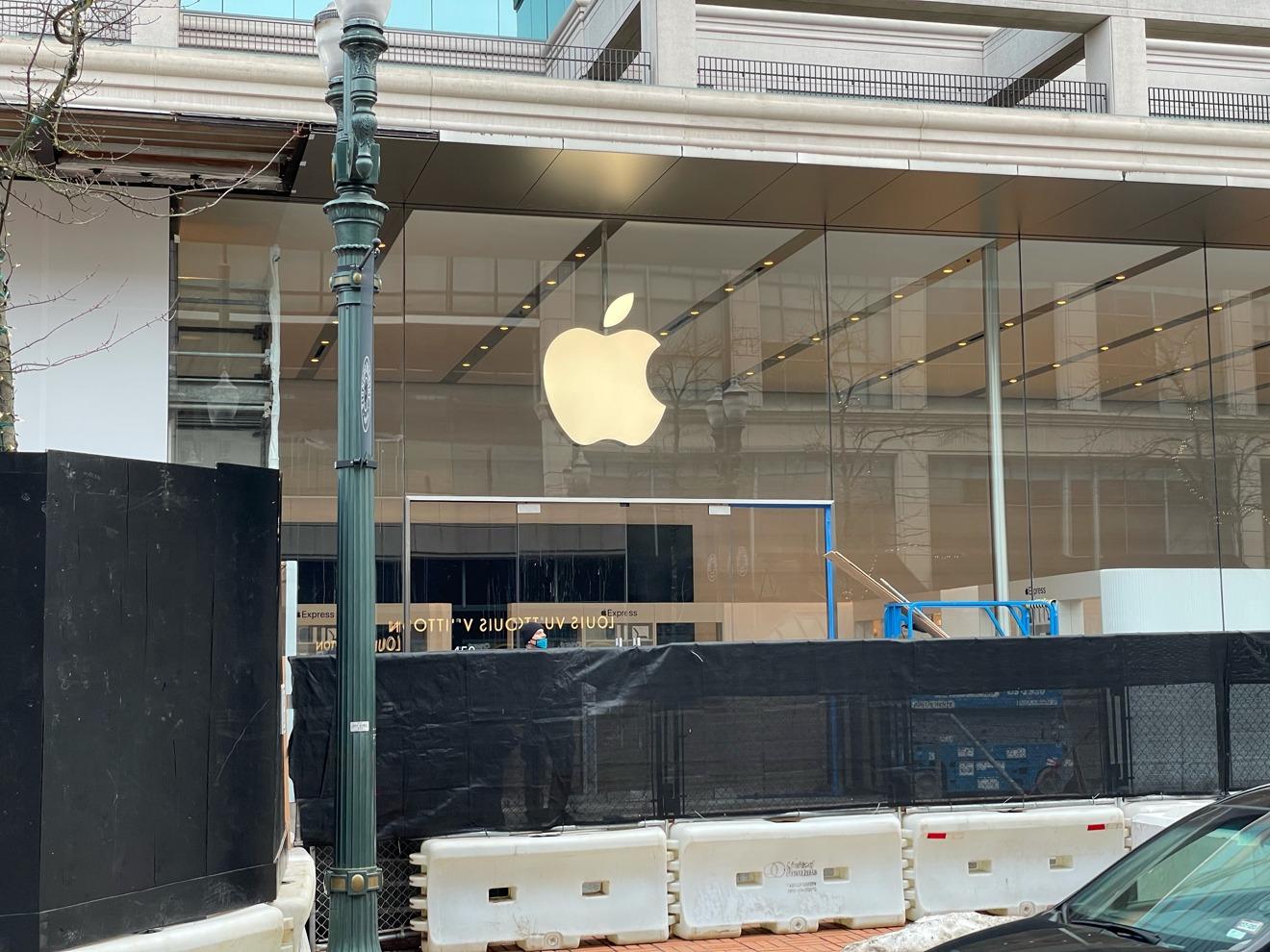 Cabinas Apple Pioneer Place Express instaladas [via