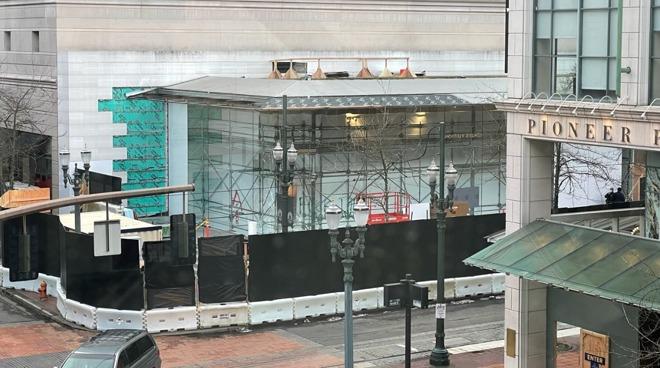 Apple Pioneer Place renovation work [via