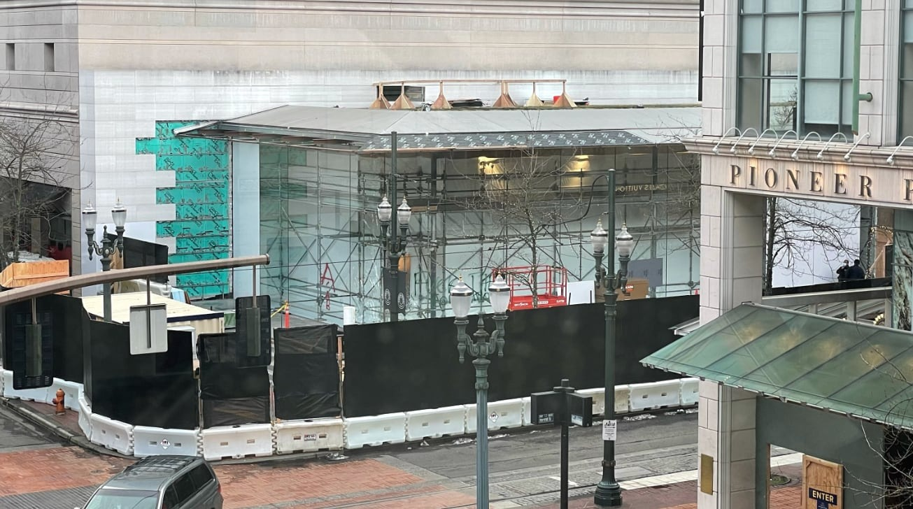 photo of Apple Pioneer Place renovations continue ahead of Monday's reopening image