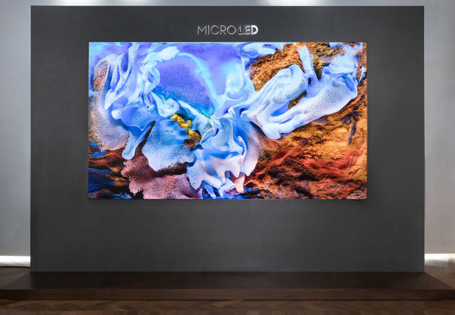 Samsung's 2020 attempt at a microLED television.