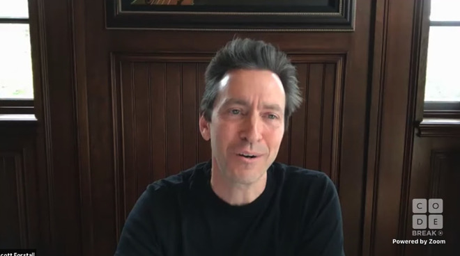 Former Apple SVP of iOS Scott Forstall during a streamed remote interview in May 2020.