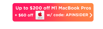MacBook Pro with M1 up to $260 off button