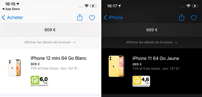 photo of Apple now displays iPhone and Mac repairability scores in France image