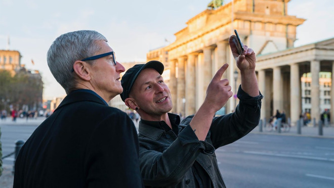 Tim Cook visiting Europe in 2018