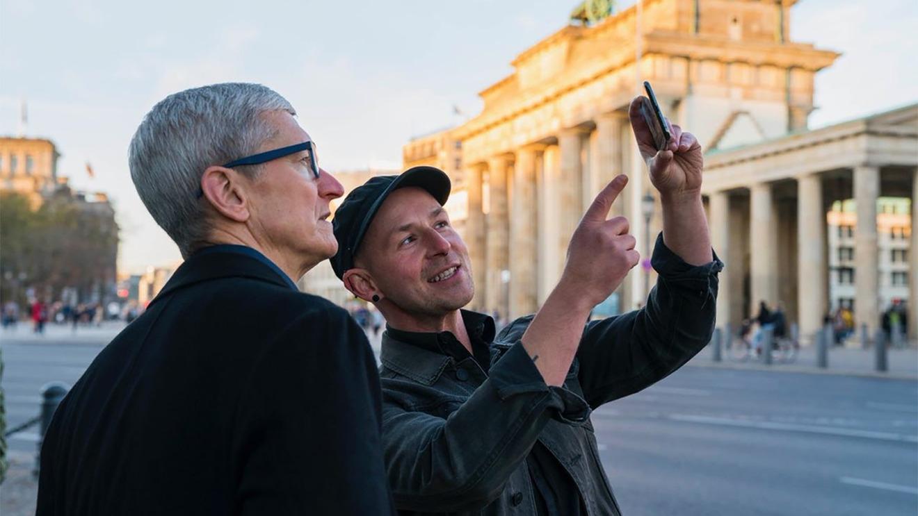 Tim Cook visiting Europe in 2018