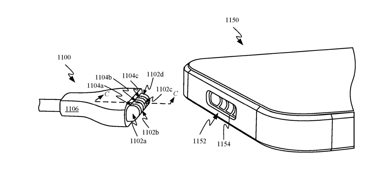 The patent illustrations also depict what could be an iPhone.