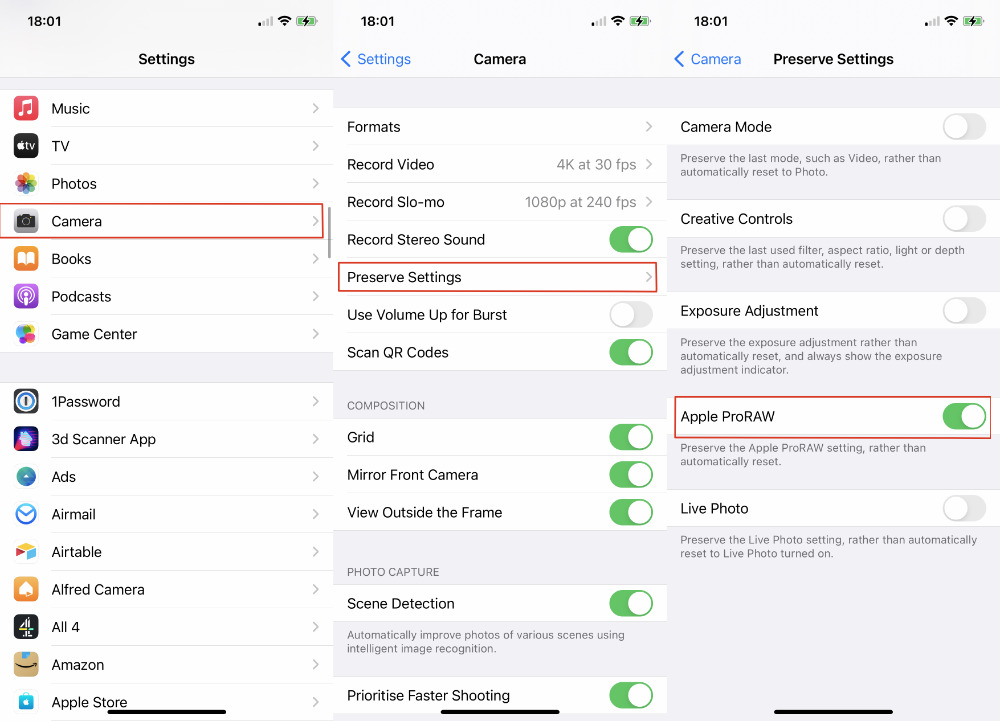 Apple encourages you to preserve your ProRAW settings, and there must be a reason.