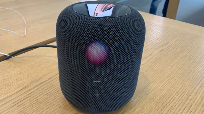 Future HomePods may be able to display controls on their acoustically transparent fabric covers
