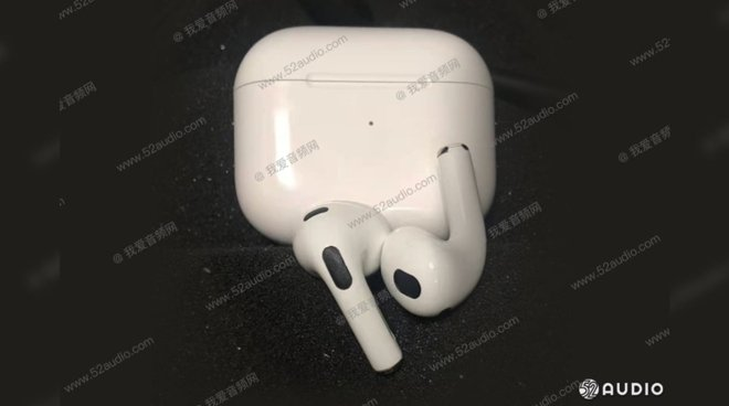 An alleged leaked image of 'AirPods 3'