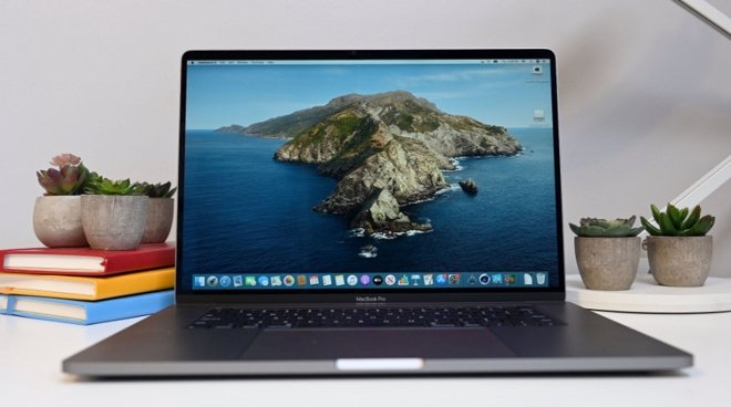 The 14-inch MacBook Pro would be smaller than the (pictured) 16-inch model.
