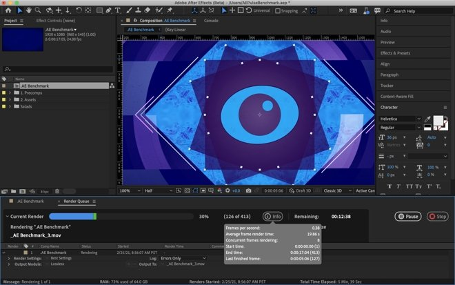 Adobe After Effects Beta now includes a multi-frame rendering boost