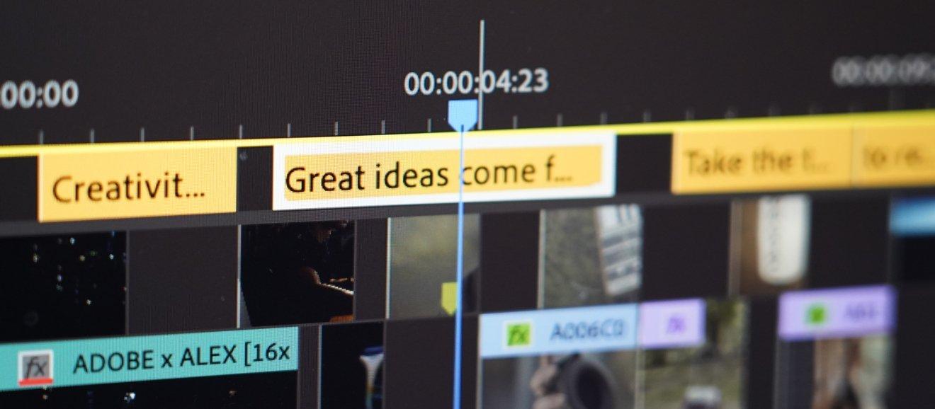Captions in Adobe Premiere Pro's update