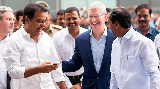 Tim Cook on a visit to India