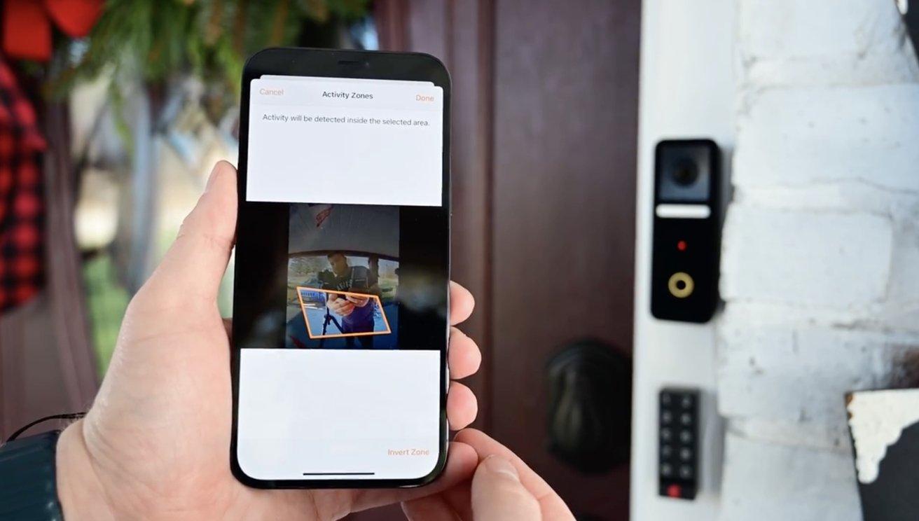 Circle View video doorbell activity zones