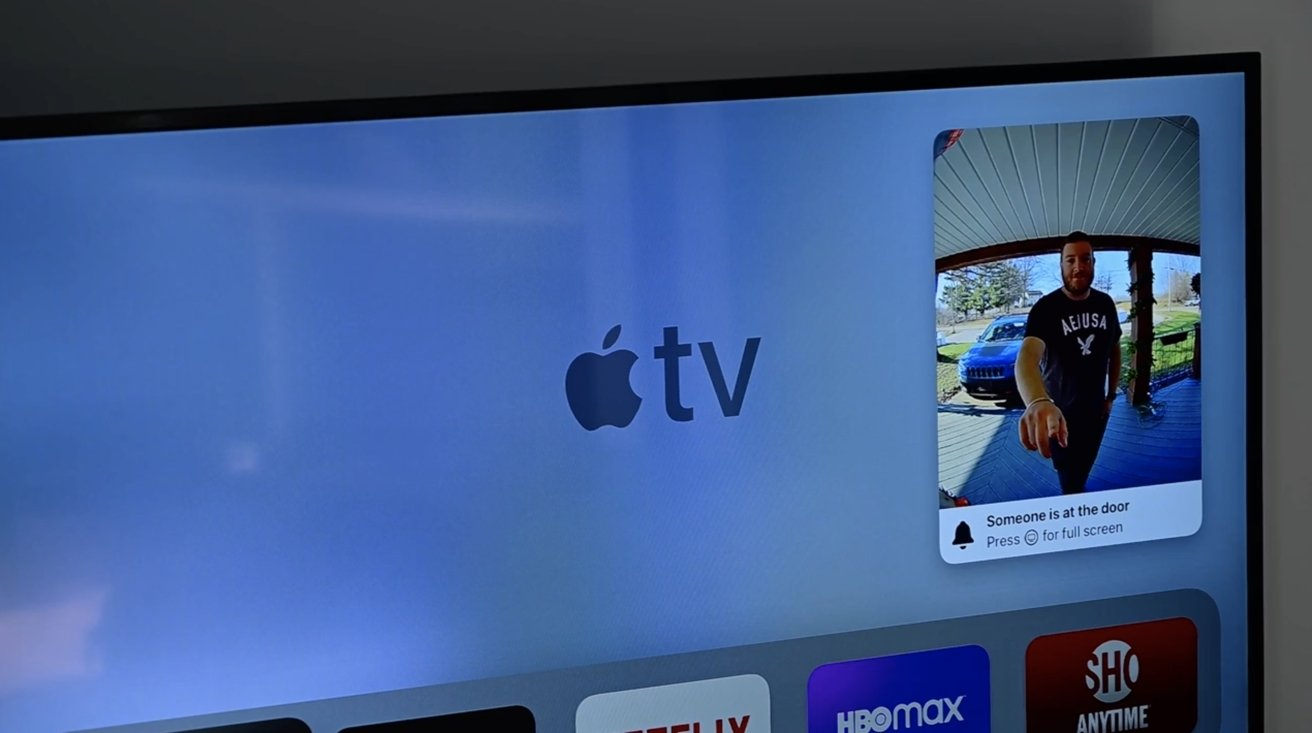 Alerts from the Circle View video doorbell on the Apple TV