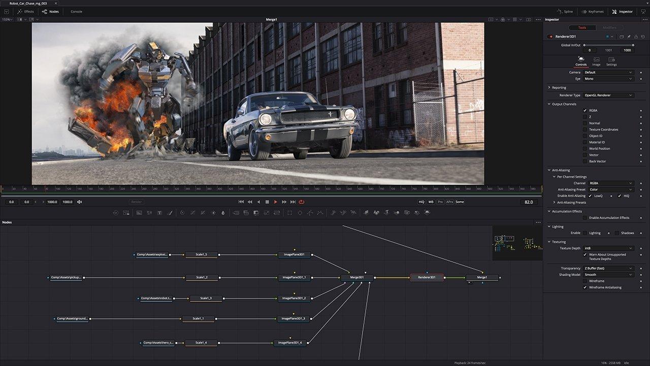Пакет визуальных эффектов DaVinci Fusion теперь также изначально поддерживает компьютеры Mac M1
