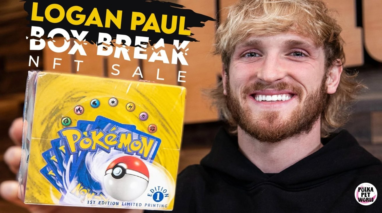 Logan Paul sold NFTs of Pokemon card images that included his face, and video stream highlights.