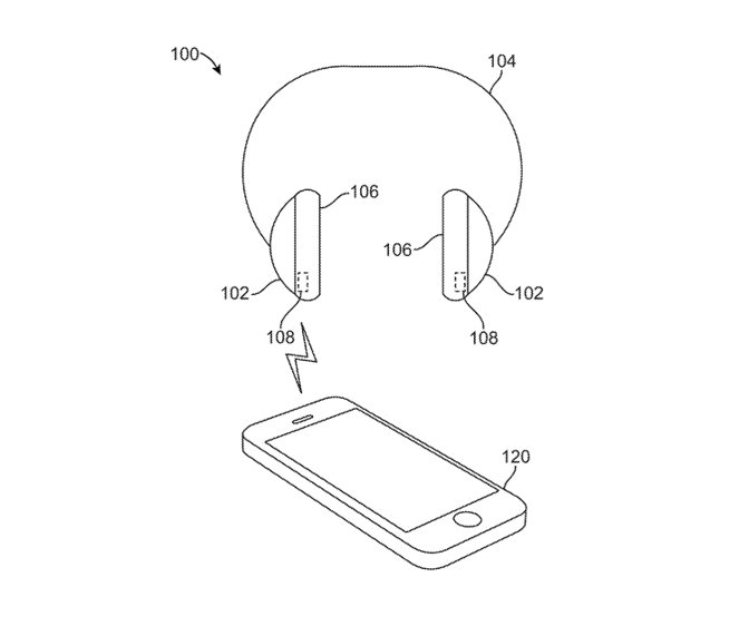 Detail from the patent showing AirPods Max