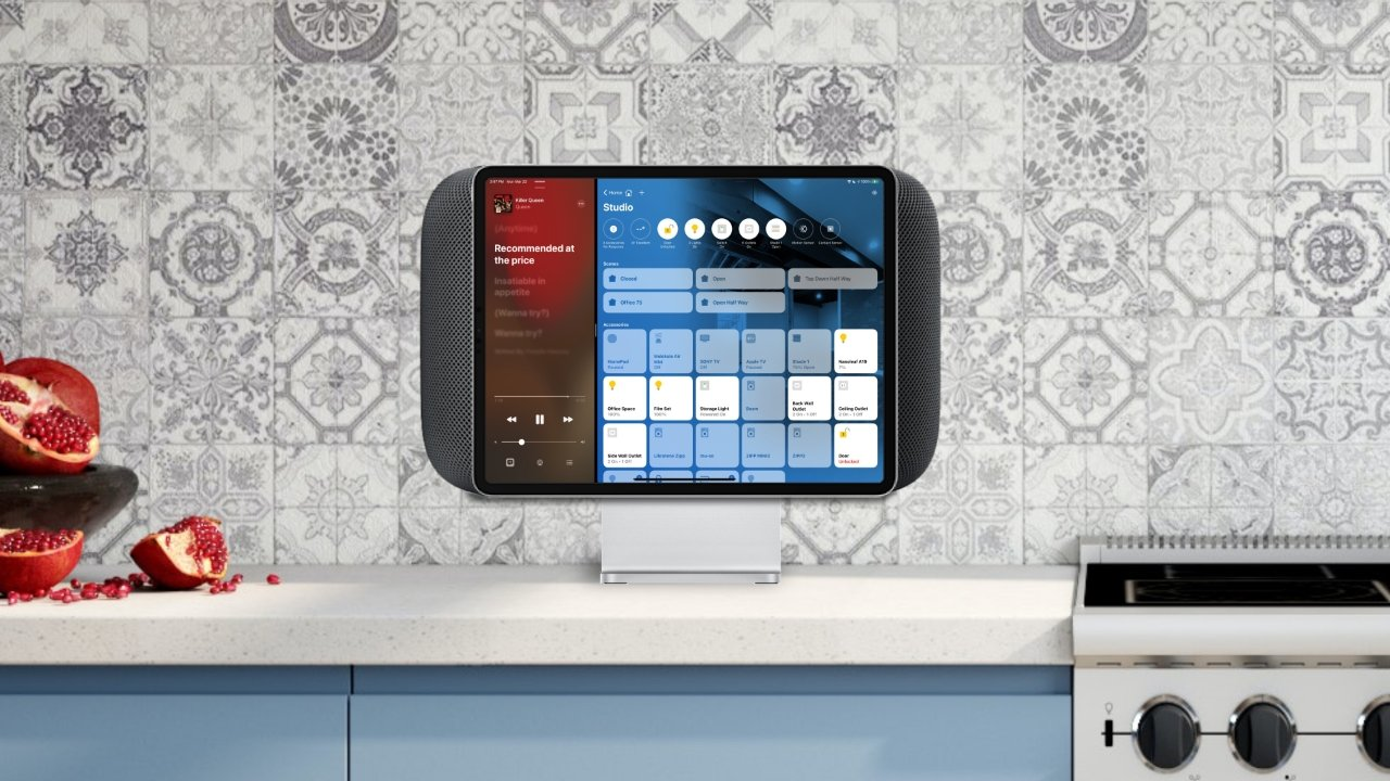 Apple could borrow from other products for the 'HomeHub' design, such as the Pro Display XDR