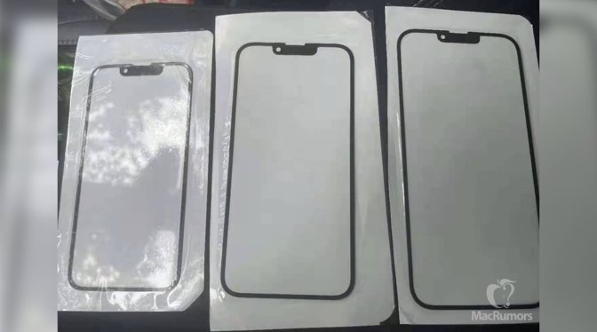 Alleged 'iPhone 13' glass panels with a smaller notch [via MacRumors]
