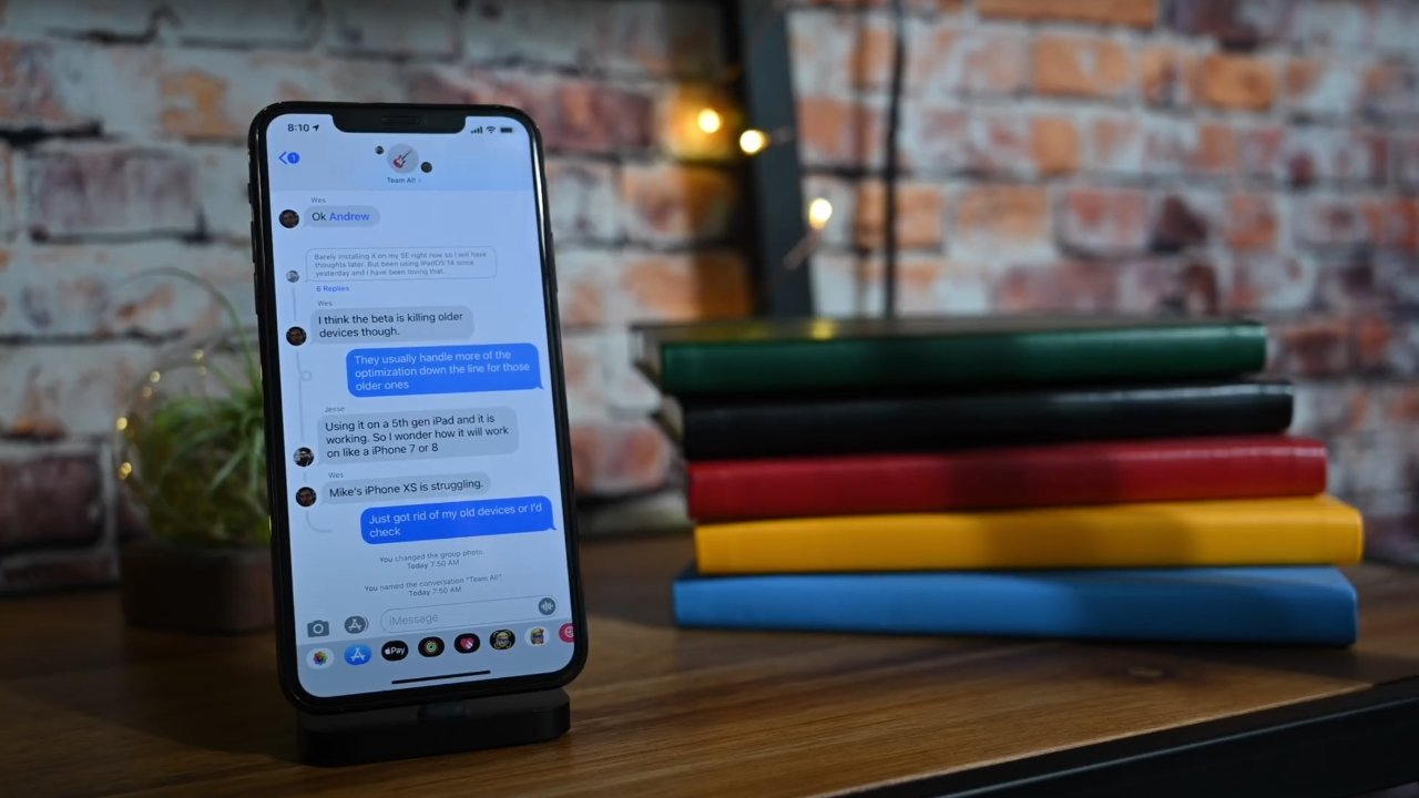 iMessage is an encrypted texting service