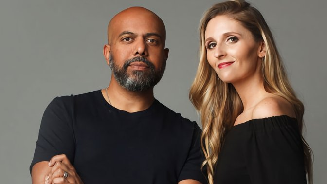 Ex-Apple executives Imran Chaudhri and Bethany Bongiorno, now partners in technology firm Humane