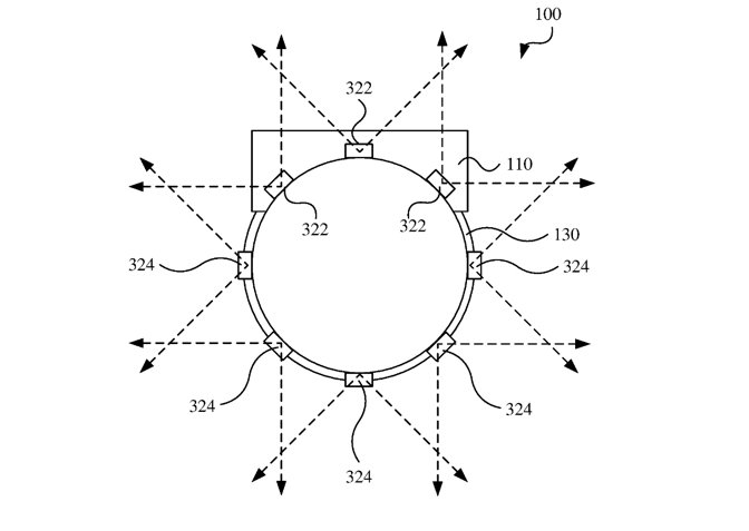 One patent application lays out where cameras could be positioned on a HMD