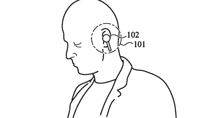 Haptic feedback in AirPods could tell this guy he needs to look up right now