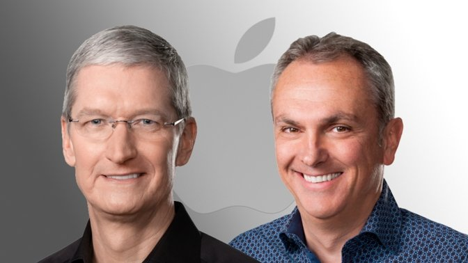 Tim Cook (left) with Luca Maestri