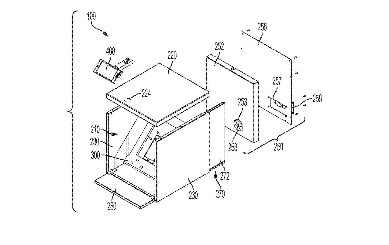 Less a patent drawing, more an Ikea-style self-assembly instruction diagram