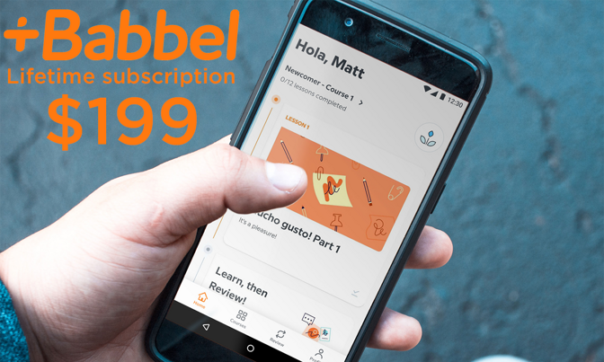 Babbel Lifetime Subscription with 14 languages on sale for $199 ($300 off)