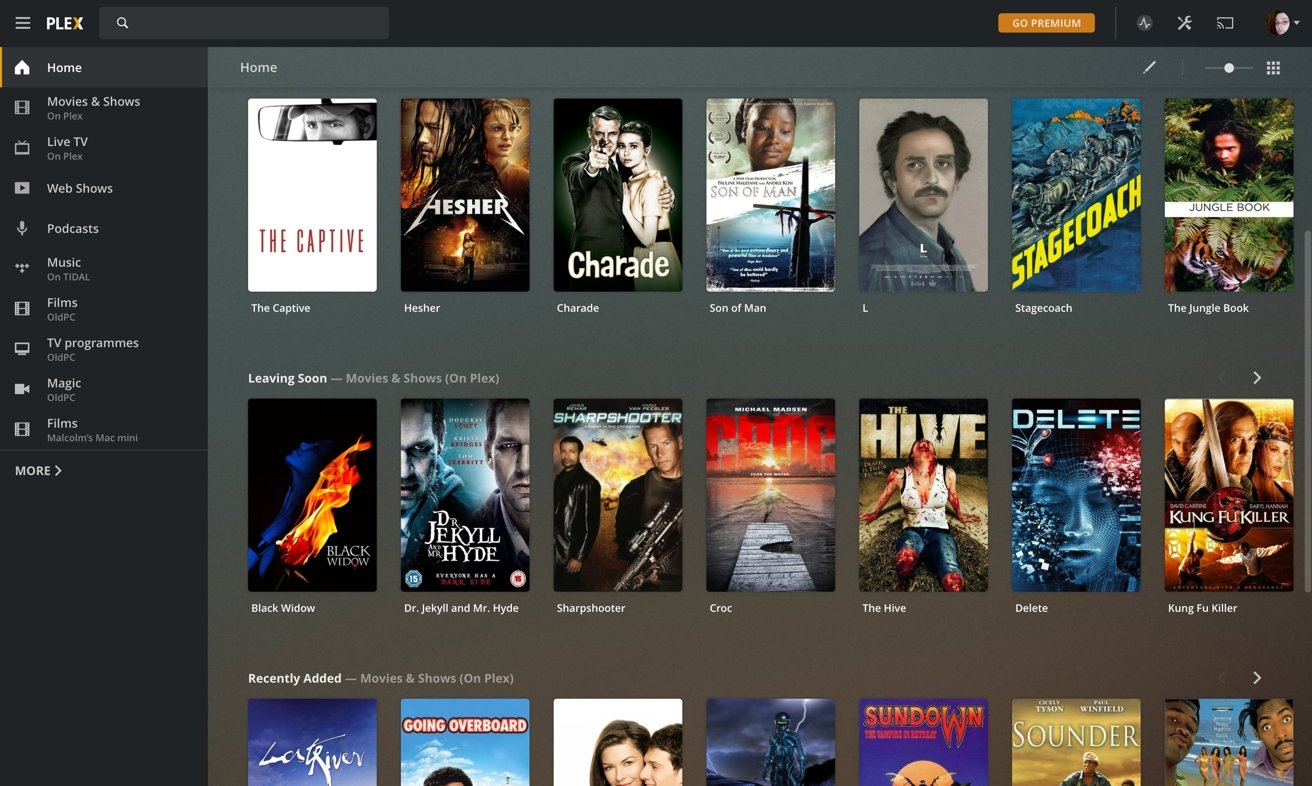 The Plex app offers a lot of free ad-supported content, alongside your own videos.