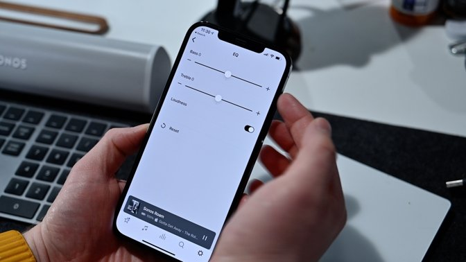 Adjusting the EQ in the Sonos app