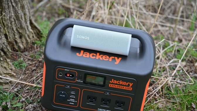 Taking to the outdoors with our Jackery powerstation and the Sonos Roam
