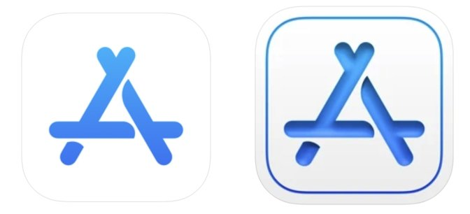 Left: the old App Store Connect icon. Right: the new