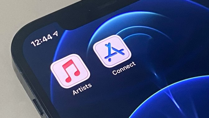 New icons for the Apple Music for Artists, and App Store Connect, apps.