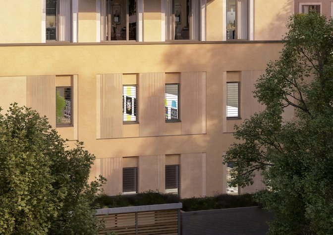 Look closely at windows in the architect artist's impression and you can see familiar Apple signage. (Source: iFun.de)
