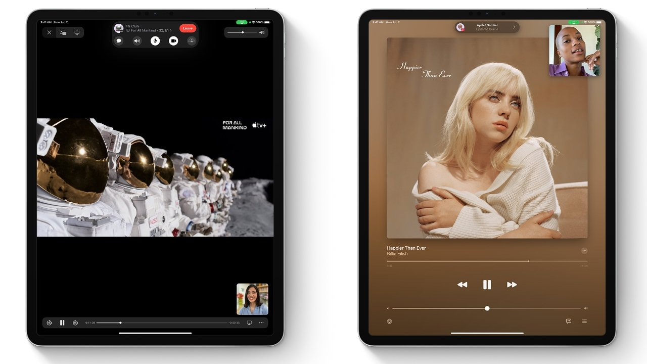 Watch and listen to media with friends via FaceTime on iPadOS 15