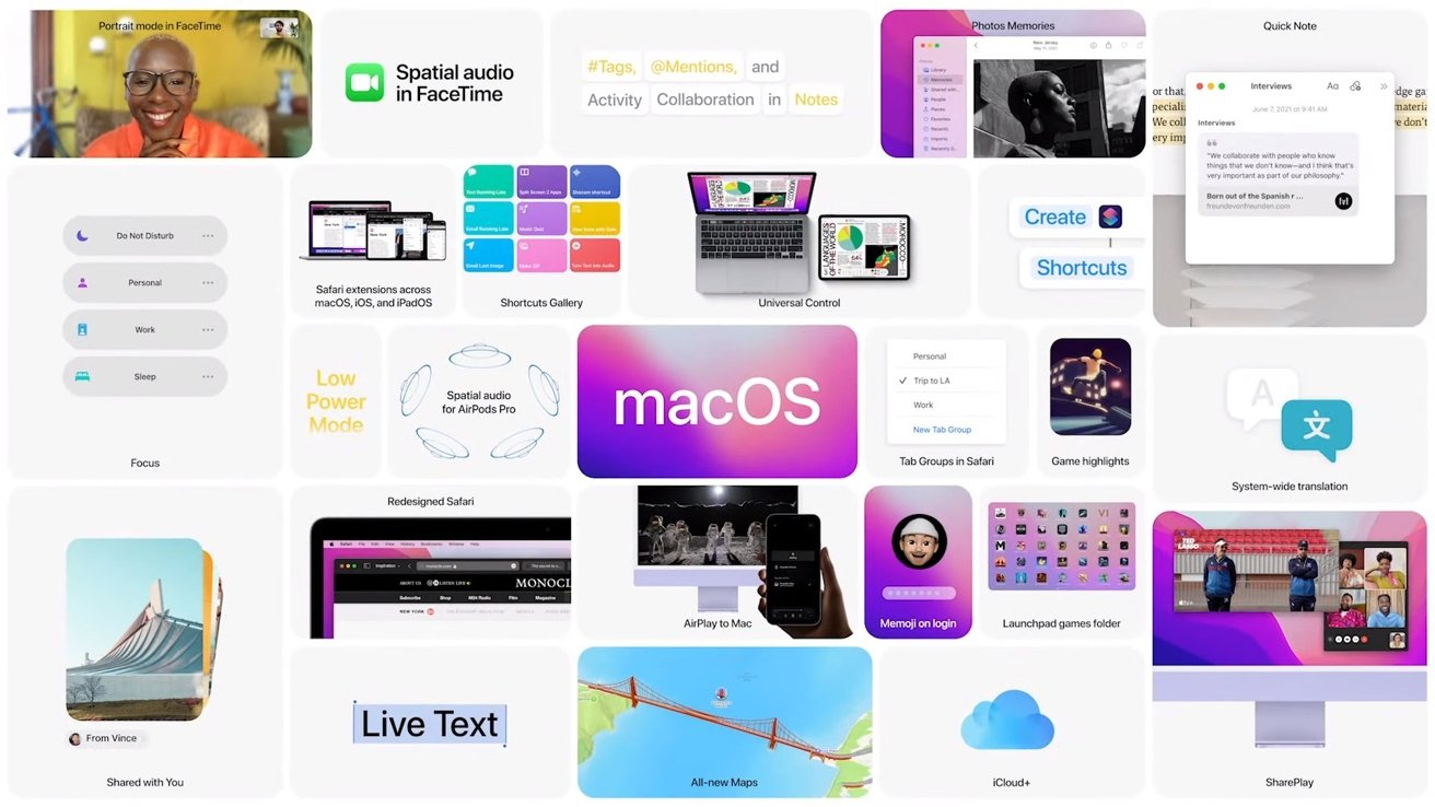 macOS Monterey integrates many of the changes to iOS 15 plus some new surprises