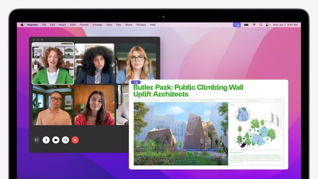FaceTime lets you share your screen on macOS Monterey
