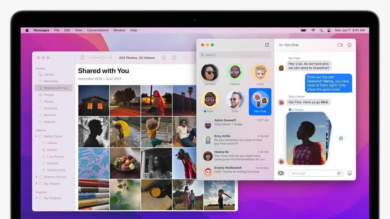 Shared content from Messages shows up in relevant apps