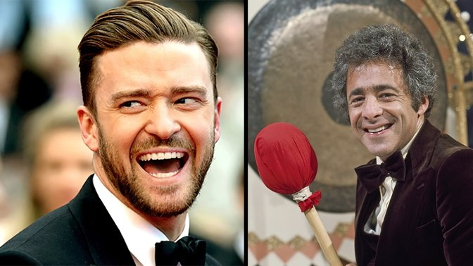 Justin Timberlake (L) is slated to play Chuck Barris, 'Gong Show' host and possible CIA assassin