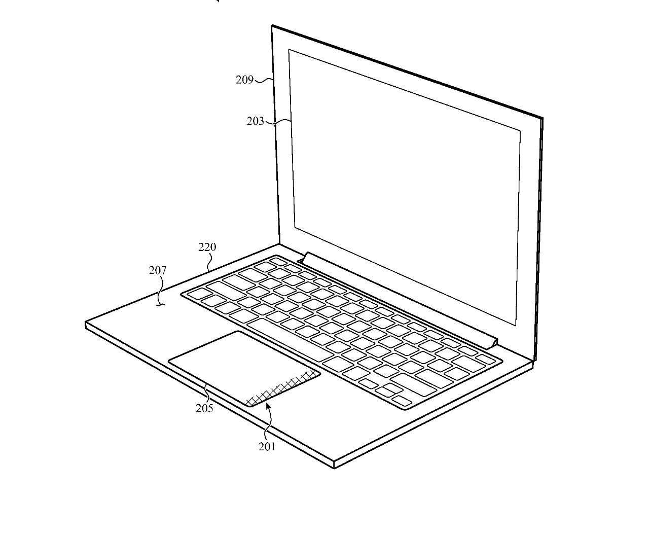 One portion of a MacBook Pro trackpad could become a tactile notification region