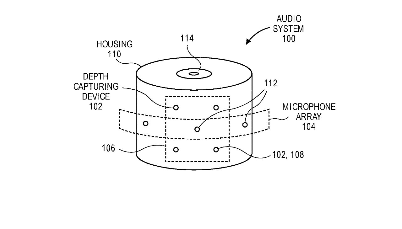 Detail from the patent showing the arrangement of a compact recording device