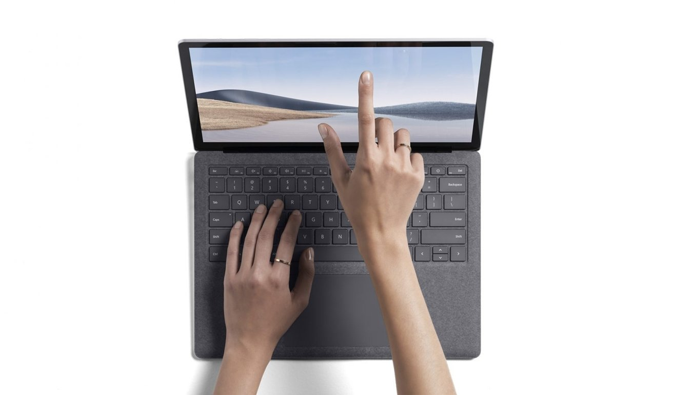 The Surface Laptop 4's screen has a 3:2 aspect ratio and touch support.