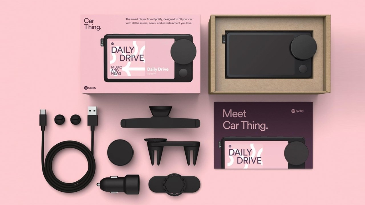Items included in the Car Thing kit