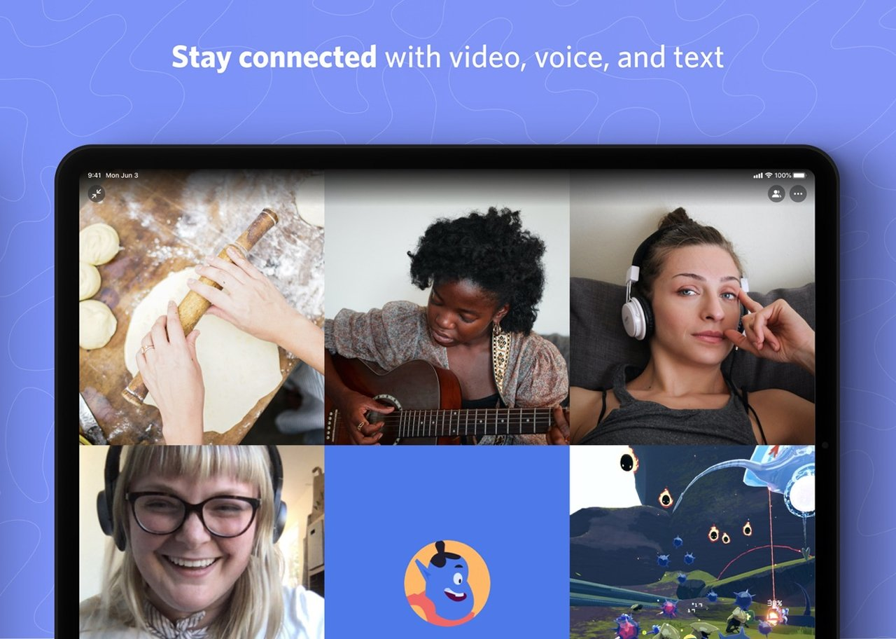 Discord supports voice, video, and text chat