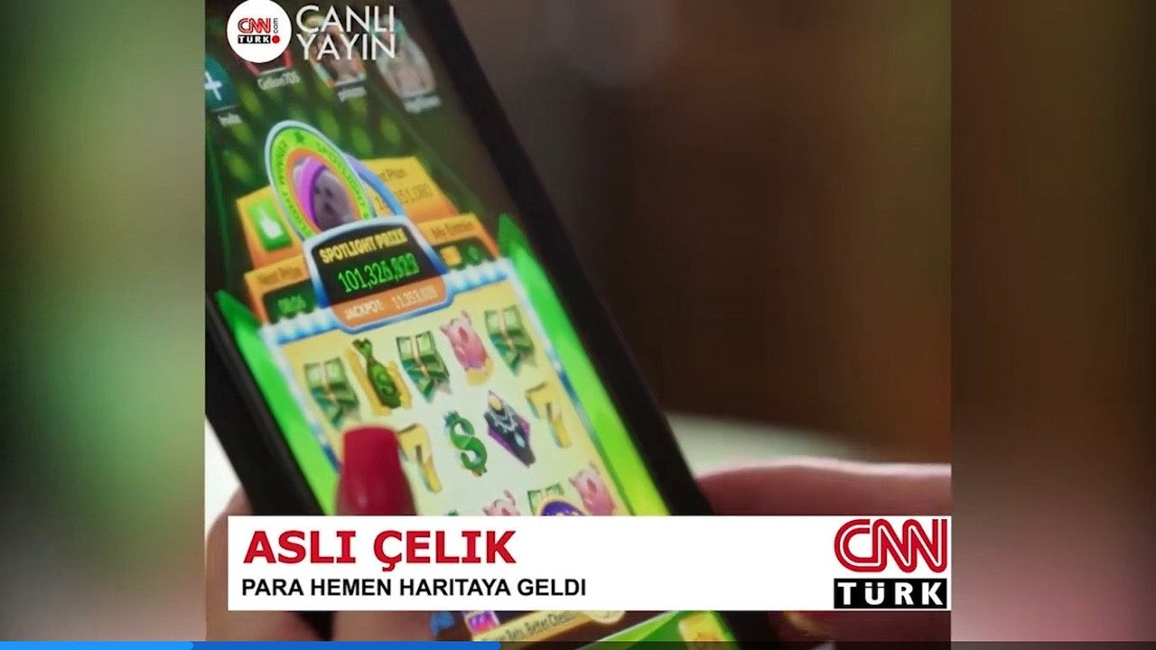 Fake CNN Turk coverage used to promote the casino website in disguise
