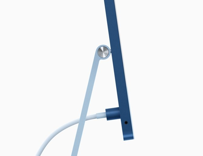 The power cable in the 24-inch iMac is held on with magnets.