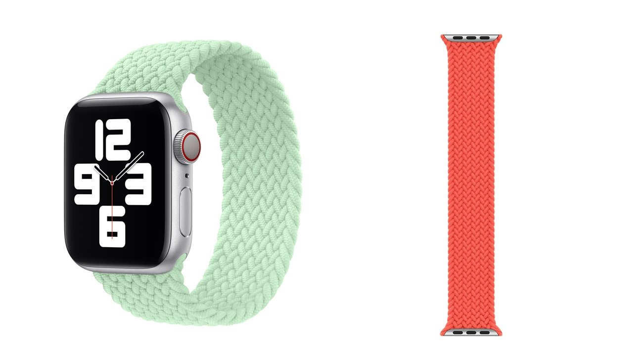 Apple added pistachio and orange options for the Braided Solo Loop